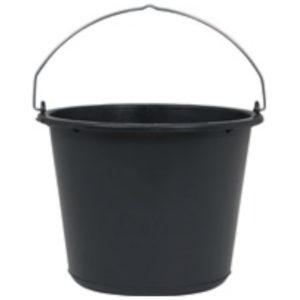 Baueimer 12 L schwarz