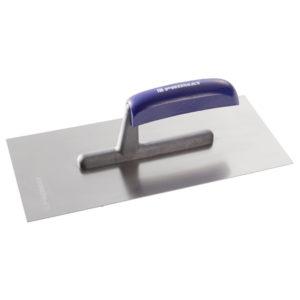 Glättekelle Länge 280 mm Breite 130 mm rostfrei, m. Buchenholzheft Edelstahl Stärke 0,7 mm PROMAT
