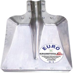 Hallenser Randschaufel FAVORIT Größe 9 380 x 380 mm Aluminiumblech KRUMPHOLZ