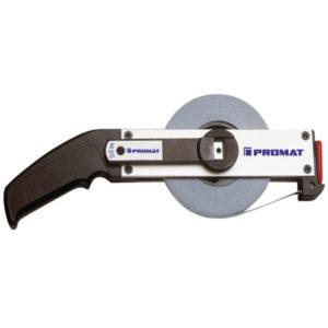 Rahmenbandmaß, verschiedene Varianten, EG II, Aluminium weiß, Stahlmaßband, PROMAT