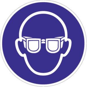 Gebotszeichen, Augenschutz benutzen, Kunststoff oder selbstklebende Folie