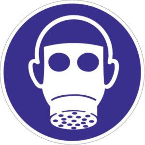 Gebotszeichen, Atemschutz benutzen, Kunststoff oder selbstklebende Folie