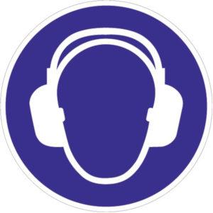 Gebotszeichen, Gehörschutz benutzen, Kunststoff oder selbstklebende Folie
