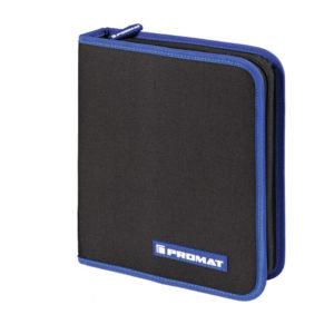 Werkzeugmappe Innen-BxTxHmm 22-teilig Polyester 500D schwarz / blau PROMAT