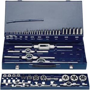 Gewindeschneidzeugsatz M3-M20, 54 teilig, HSS, Metallkassette, PROMAT